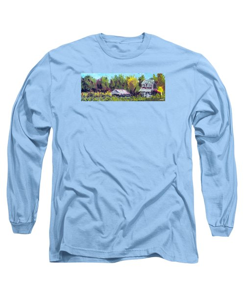 Tobacco Barn On Deppe Loop Rd Long Sleeve T-Shirt by Jim Phillips