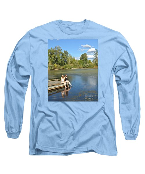 Toes In The Water Long Sleeve T-Shirt by Mindy Bench