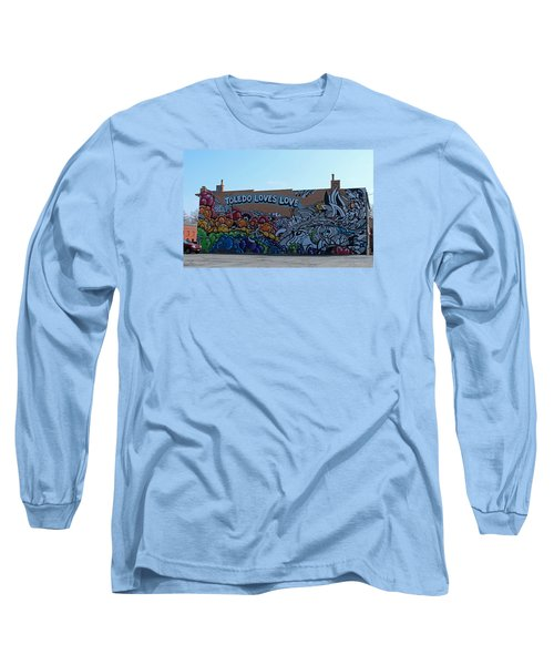 Long Sleeve T-Shirt featuring the photograph Toledo Loves Love by Michiale Schneider