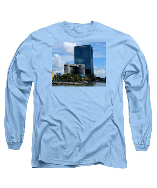 Toledo's Waterfront I Long Sleeve T-Shirt by Michiale Schneider