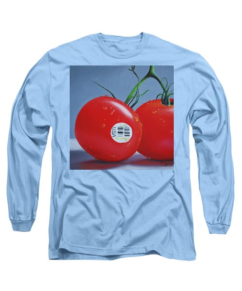 Tomatoes With Sticker Long Sleeve T-Shirt