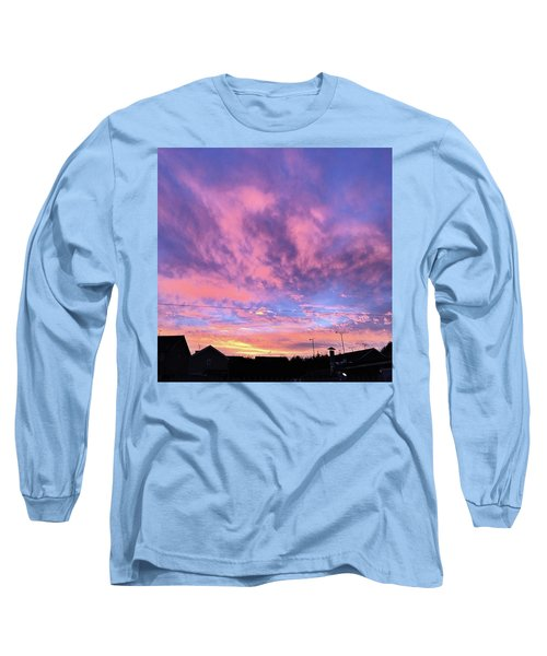 Tonight's Sunset Over Tesco :) #view Long Sleeve T-Shirt by John Edwards