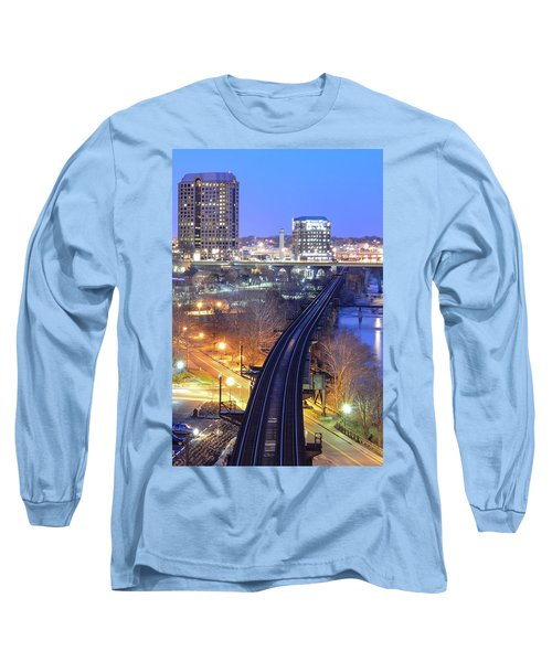 Tracks Into The City Color Long Sleeve T-Shirt