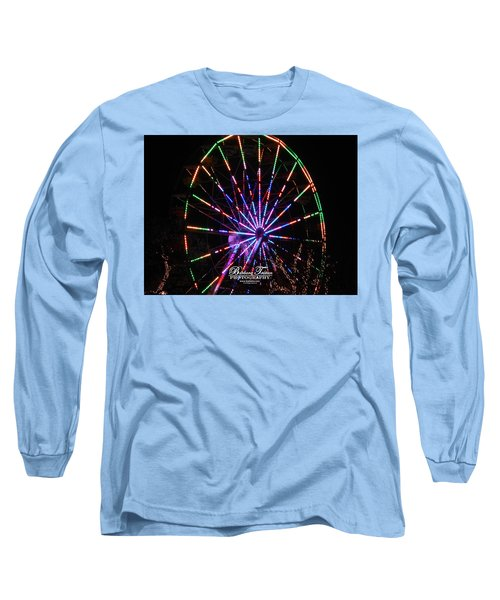 Trail Of Lights #7427 Long Sleeve T-Shirt