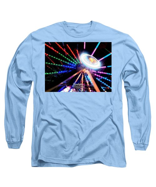 Trail Of Lights Abstract #7486 Long Sleeve T-Shirt by Barbara Tristan
