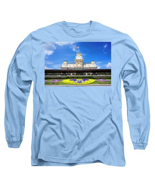 Long Sleeve T-Shirt featuring the photograph Train Station by Greg Fortier
