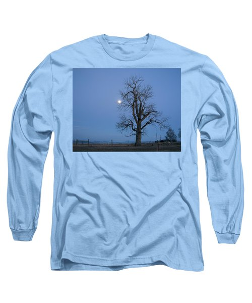 Tree And Moon Long Sleeve T-Shirt