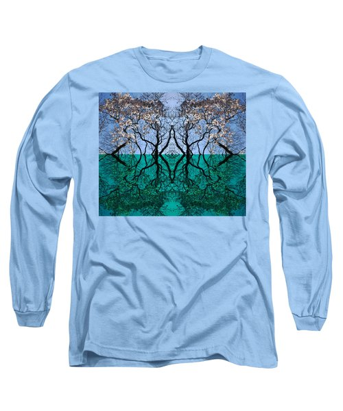 Tree Gate Between Water And Sky Worlds Long Sleeve T-Shirt