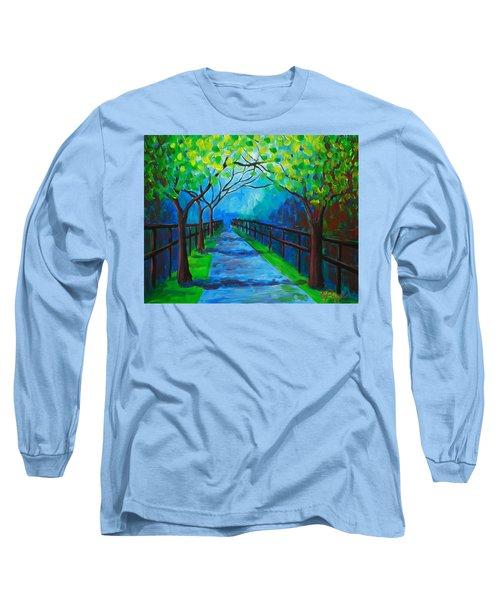 Tree Lined Fence Long Sleeve T-Shirt