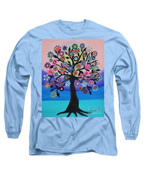 Blooming Tree Of Life Long Sleeve T-Shirt