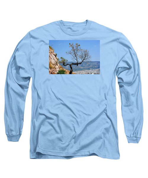 Long Sleeve T-Shirt featuring the photograph Tree On Acropolis Hill by Robert Moss