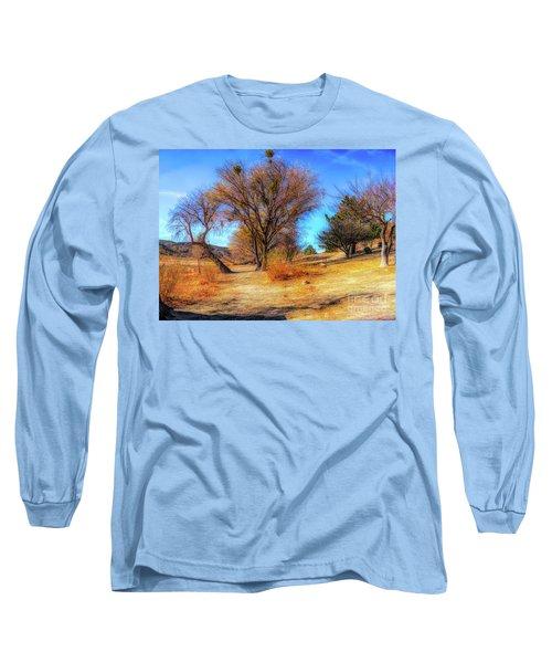 Trees Along Elizabeth Lake Long Sleeve T-Shirt
