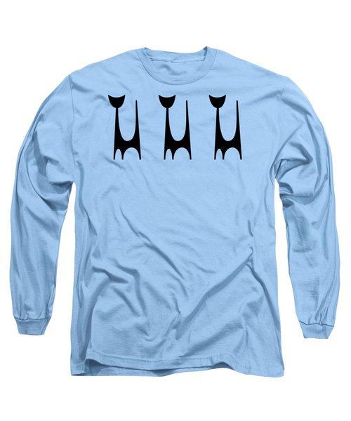 Trio Of Cat 1  Long Sleeve T-Shirt