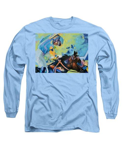 Triple Crown Champion American Pharoah Long Sleeve T-Shirt