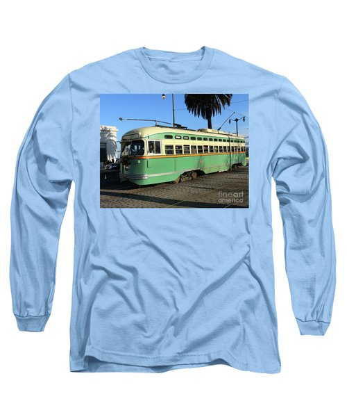 Long Sleeve T-Shirt featuring the photograph Trolley Number 1058 by Steven Spak