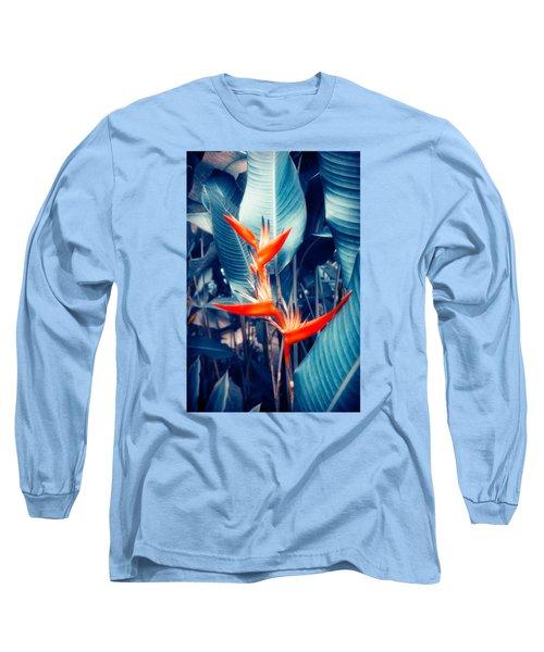 Tropical Parakeet Flower Long Sleeve T-Shirt by Konstantin Sevostyanov