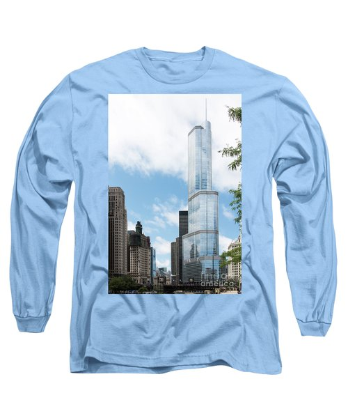 Trump Tower In Chicago Long Sleeve T-Shirt
