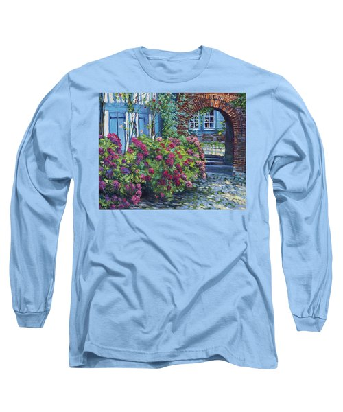 Tudor Hydrangea Garden Long Sleeve T-Shirt