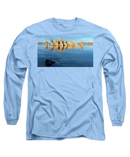 Tufa Reflection At Mono Lake Long Sleeve T-Shirt