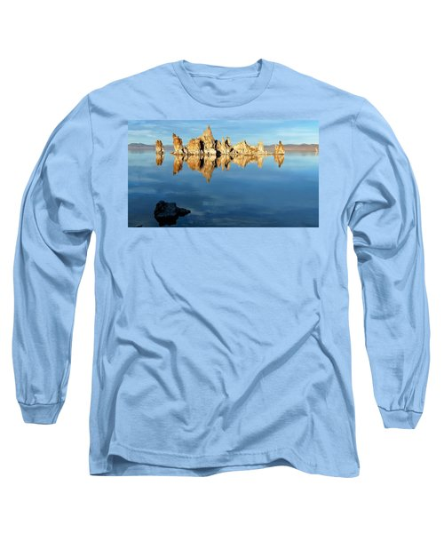 Tufa Reflection At Mono Lake Long Sleeve T-Shirt