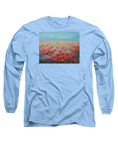 Tulips Dance Abstract 4 Long Sleeve T-Shirt by Jane See
