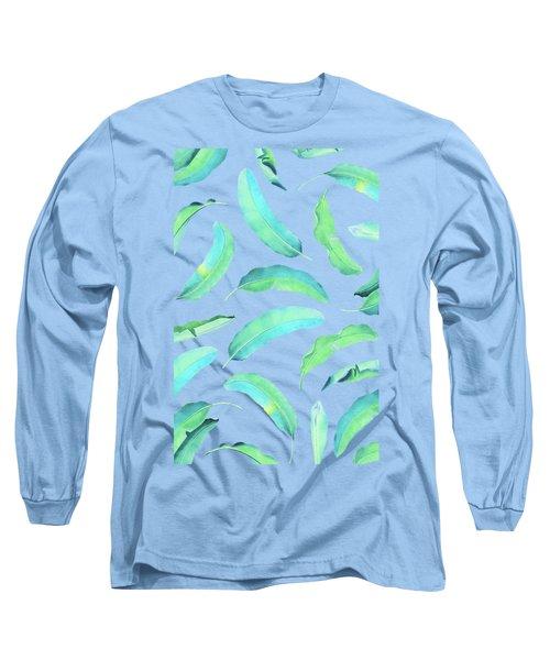Turn Over A New Banana Leaf  Long Sleeve T-Shirt by Uma Gokhale
