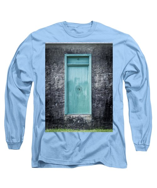 Turquoise Door Long Sleeve T-Shirt