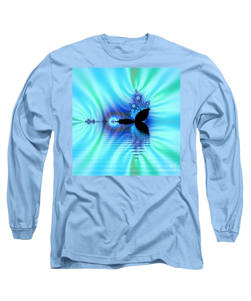 Turquoise Lake Fractal Long Sleeve T-Shirt