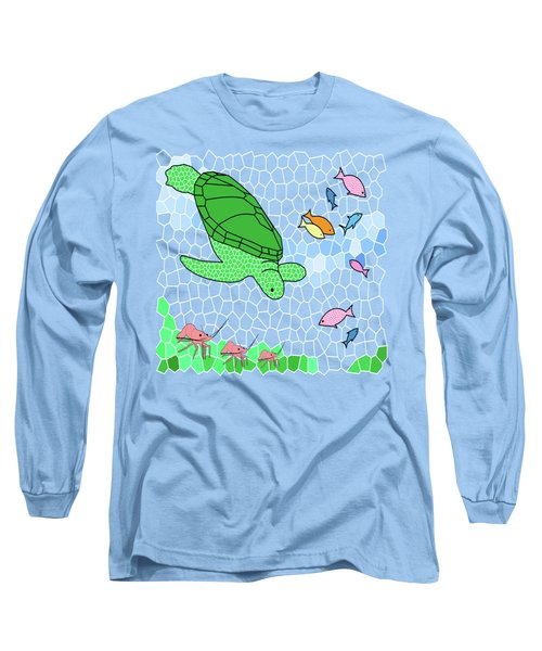 Turtle And Friends Long Sleeve T-Shirt by Methune Hively