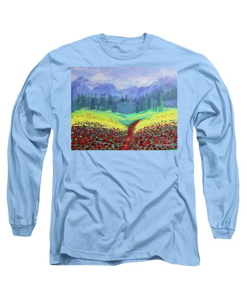 Tuscan Poppies Long Sleeve T-Shirt