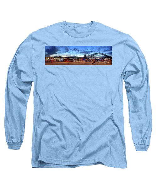 Long Sleeve T-Shirt featuring the photograph Twilight By The Bridge By Kaye Menner by Kaye Menner