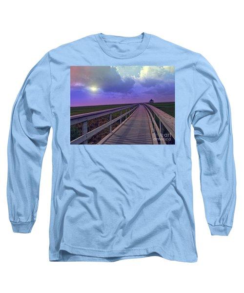 Twilight Nature Walk Long Sleeve T-Shirt by Ella Kaye Dickey