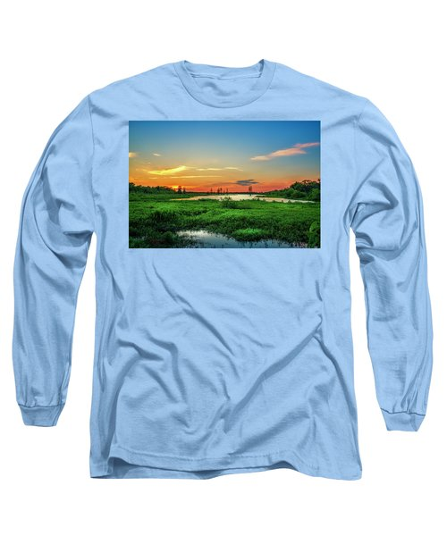 Long Sleeve T-Shirt featuring the photograph Twilights Arrival by Marvin Spates