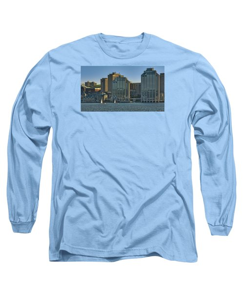 Twin Purdy Towers Of Halifax Long Sleeve T-Shirt by Ken Morris