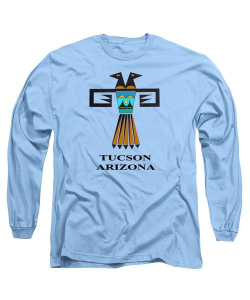Two-headed Bird Tucson, Az Long Sleeve T-Shirt by Vagabond Folk Art - Virginia Vivier