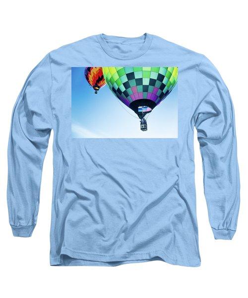 Two Hot Air Balloons Ascending Long Sleeve T-Shirt