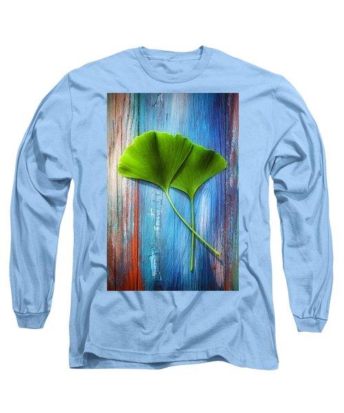 Two Leaves Of Ginkgo Biloba Long Sleeve T-Shirt