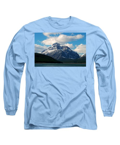 Two Medicine Lake And Rising Wolf Mountain Long Sleeve T-Shirt