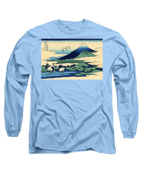 Umegawa In Sagami Province, One Of Thirty Six Views Of Mount Fuji Long Sleeve T-Shirt by Hokusai