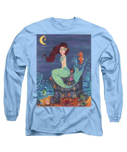 Under The Merlight Sea Long Sleeve T-Shirt