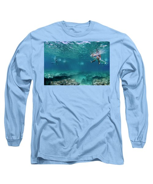 Between The Reef And The Surface. Long Sleeve T-Shirt