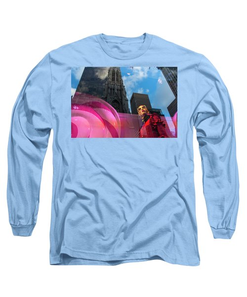 Long Sleeve T-Shirt featuring the photograph Unimpressed In New York by Alex Lapidus