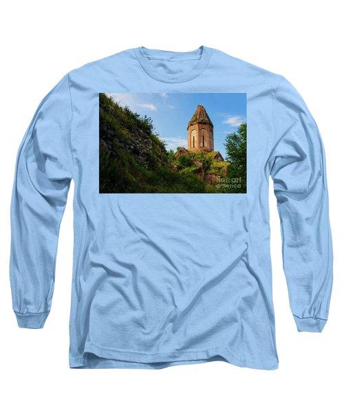 Unique Kirants Monastery On A Sunny Day, Armenia Long Sleeve T-Shirt