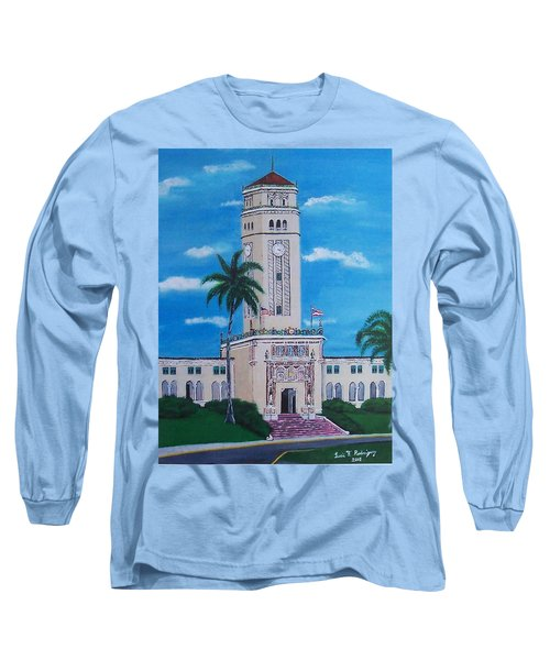 University Of Puerto Rico Tower Long Sleeve T-Shirt by Luis F Rodriguez