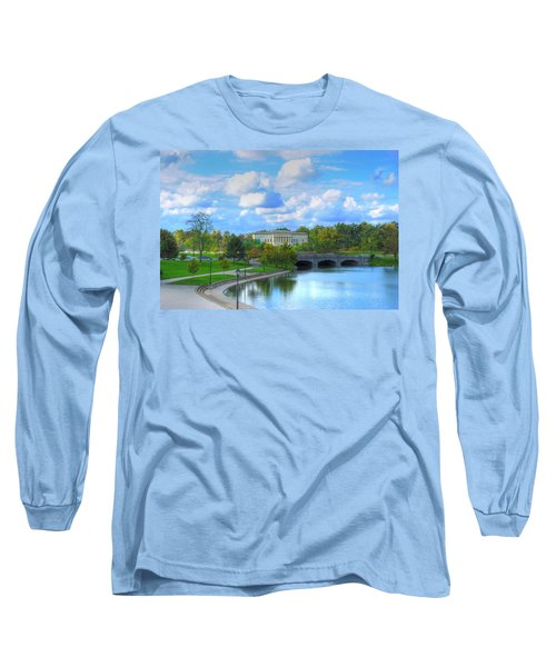 Long Sleeve T-Shirt featuring the pyrography Untitled by Michael Frank Jr