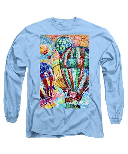 Long Sleeve T-Shirt featuring the painting Up by Colleen Kammerer