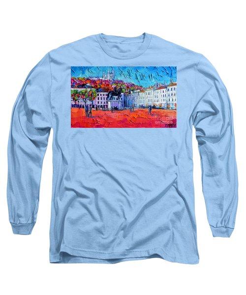 Urban Impression - Bellecour Square In Lyon France Long Sleeve T-Shirt