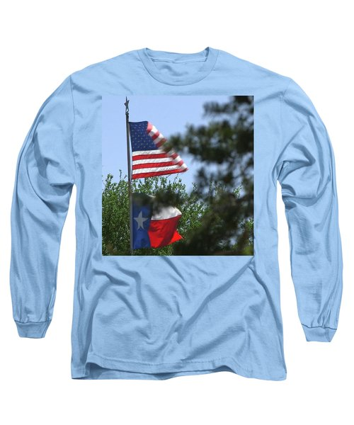Usa Blesses Texas Long Sleeve T-Shirt