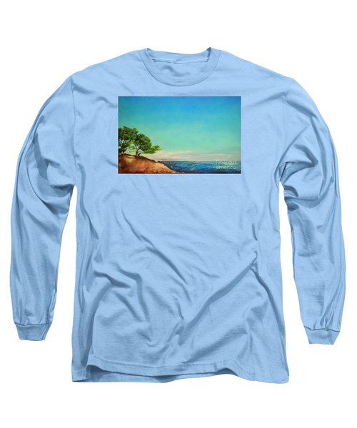 Long Sleeve T-Shirt featuring the painting Vacanza Permanente by Maja Sokolowska