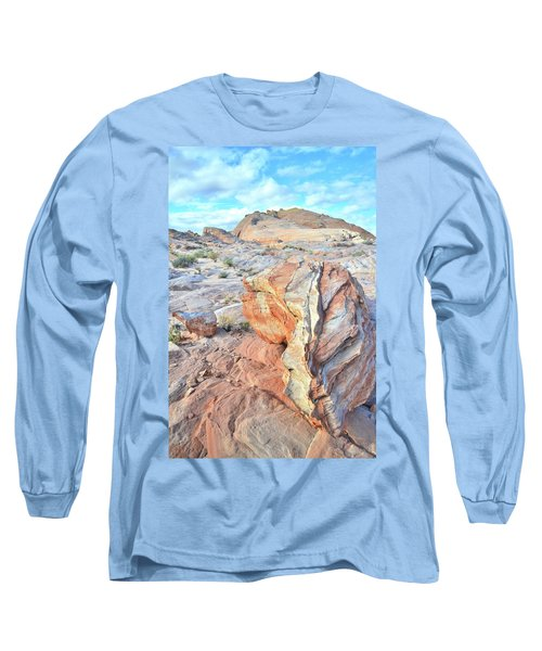 Valley Of Fire Alien Boulder Long Sleeve T-Shirt by Ray Mathis